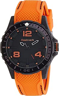 Titan Unisex's Black Dial Silicone Band Watch - 38036PP01