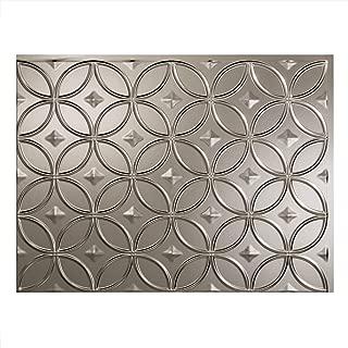 Fasade Easy Installation Rings Brushed Nickel Backsplash Panel for Kitchen and Bathrooms (18