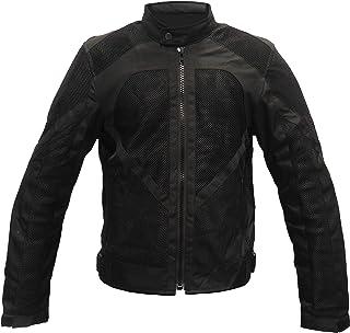 Motardzone Chaqueta de moto para hombre, de verano y para invierno, impermeable, con protección CE, con forro lavable Negro (XL)
