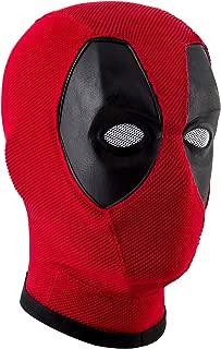 Deadpool Mask,Wade Wilson Mask,Marvel Deadpool Mask Helmet Knitted Props Red