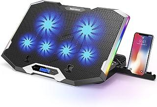 """TopMate C11 Cooler Support Ventilateur de Refroidissement pour Ordinateur Portable 11-17.3"""" avec Lumières Rouge-Vert-Bleu,..."""