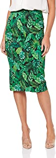 French Connection Women's Leaf Print Pencil Skirt, Multi