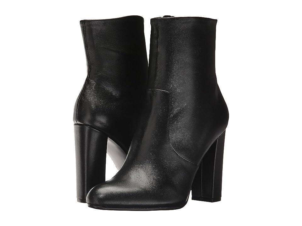 Steve Madden Editor Dress Bootie (Black Leather) Women
