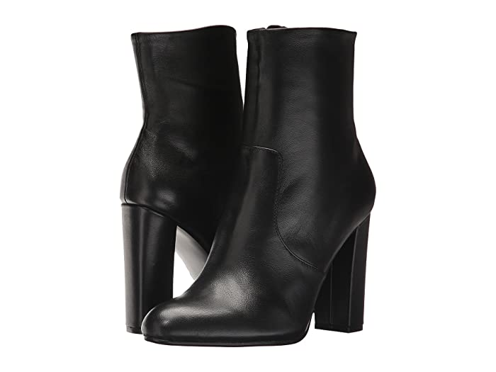 Vintage Boots, Retro Boots Steve Madden Editor Dress Bootie Black Leather Womens Shoes $87.99 AT vintagedancer.com