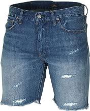 mens distressed denim shorts