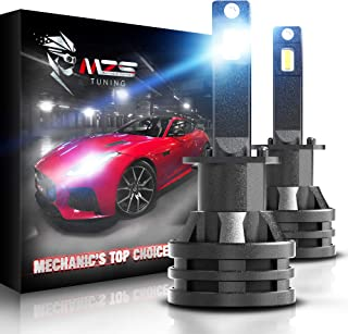MZS Mini H1 LED Headlight Bulbs,10000LM 6500K Cool White CREE Chips All-in-One Conversion Kit w/360 Degree Adjustable Beam
