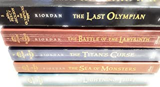 Percy Jackson and the Olympians Collection Rick Riordan 5 Books Set (Last Olympian, The Titans Curse, The Battle of the Labyrinth, The Sea of Monsters, The Lightning Thief)