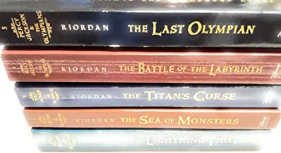 Percy Jackson and the Olympians Collection Rick Riordan 5 Books Set (Last Olympian, The Titans Curse, The Battle of the La...