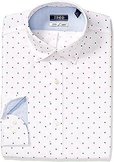 IZOD Men's Dress Shirt Slim Fit Stretch Print