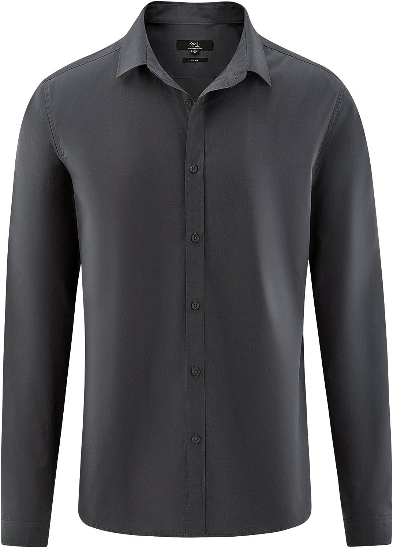 oodji Ultra Hombre Camisa B/ásica Entallada