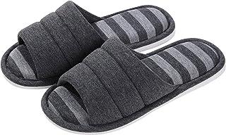 شباشب نسائية ناعمة داخلية من shevalues مفتوحة من الأمام من القطن رغوة الذاكرة سهلة الارتداء في المنزل أحذية المنزل