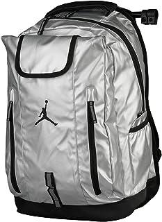 Nike Jumpman Jordan Metal Silver/Black Sports Equipment Laptop Backpack, OneSize