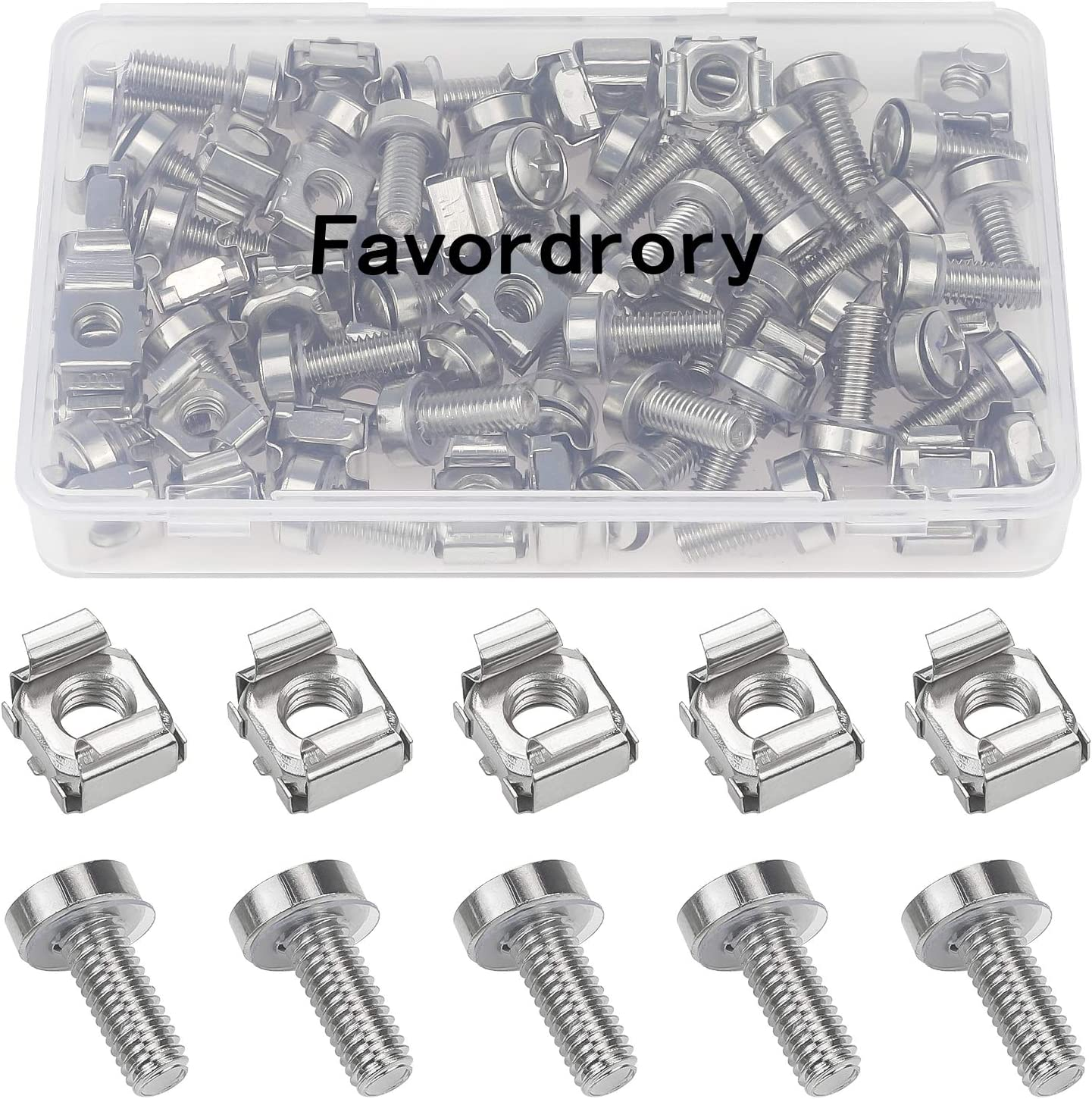 Directly managed store Favordrory Sale SALE% OFF 30 Pack M6 x 20mm Rack Nuts Wa Screws and Cage Mount