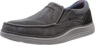 Skechers Mens 66014 Status 2.0- Mosent Slip on Canvas Moc Toe