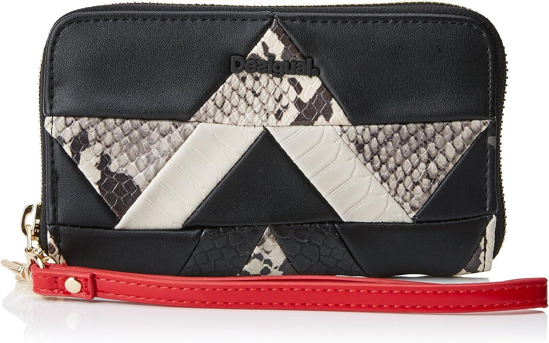 Desigual Mone_snake Patch Mini Zip, Women's Wallet, black (black), 2x9x15 cm (B x H T)
