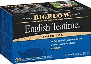 Sponsored Ad - Bigelow English Teatime Black Tea Bags, 20 Count Box (Pack of 6) Caffeinated Black Tea, 120 Tea Bags Total