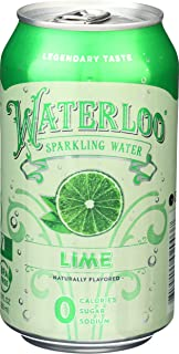 Waterloo Sparkling Water, Water Sparkling Lime, 12 Fl Oz Single