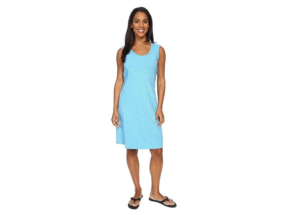 Prana Calico Dress (Electro Blue) Women