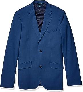 Perry Ellis Men's Big Tall Slim Fit Washable Stretch Sport Jacket, Bay Blue, 42 x Long