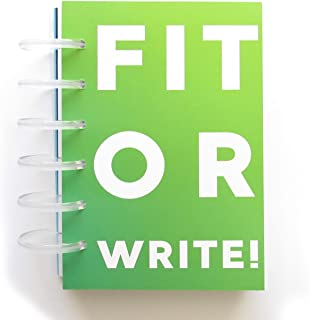 FIT OR WRITE! SIX Month Fitness Journal with Full Color Removable Waterproof Pages, Plus 2 Bonus E-Books, Workout Planner for Men Women with Sturdy Design, Track Progress with Daily and Weekly Pages.