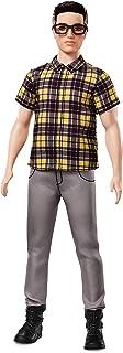 Barbie- Ken Fashionistas Doll 12 Chill in Check-Broad Muñeco Look Informal, (Mattel FNH44)
