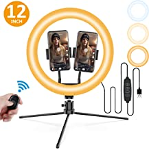 Selfie Ring Light with Stand for iPhone Android, Selfie Light Ring YouTube Video Tiktok Makeup Photography Live