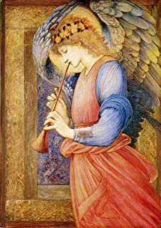 e burne jones an angel playing a flageolet