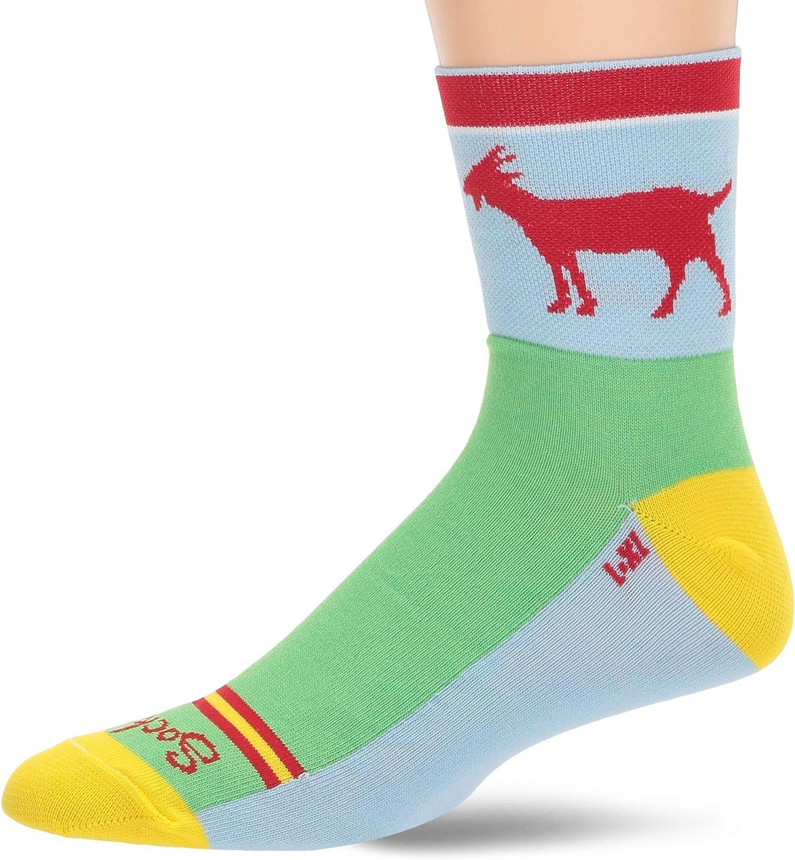 SockGuy Goat Classic Cycling 3-inc - Max 45% Max 80% OFF OFF Socks Running