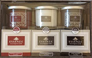 Essenza Luxury Fragrance Candles 3-PC Gift Set (Blackberry Cardamom, Vanilla, Amber Teakwood)