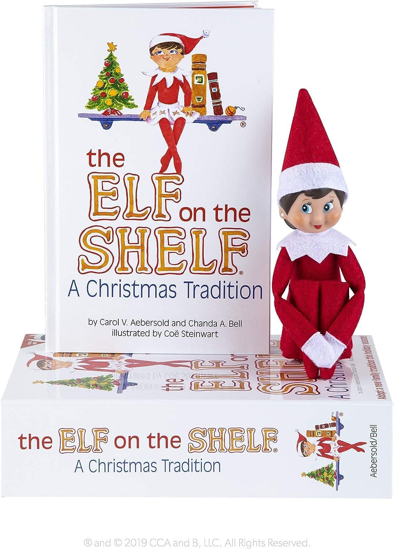 The Elf on the Shelf: Una tradición navideña (Incluye Tono de Piel Claro niña Elf y un Libro Especial en Inglés)