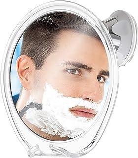 Fogless Shower Mirror for Shaving with Razor Hook   Strong Suction Cup   True Fog Free, Anti-Fog Bathroom Mirror   360 Deg...