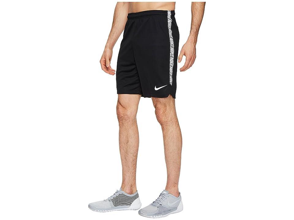 Nike Dry Squad Soccer Short (Black/White/White) Men