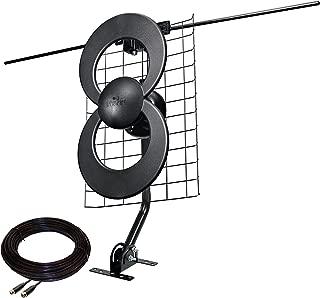 Antennas Direct ClearStream 2V TV Antenna, 60+ Mile Range, UHF/VHF, Multi-directional, Indoor, Attic, Outdoor, Mast w/Pivoting Base/Hardware/ Adjustable Clamp/Sealing Pads, 4K Ready, Black – C2-J30-V