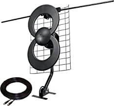 Antennas Direct ClearStream 2V TV Antenna, 60+ Mile Range, UHF/VHF, Multi-directional, Indoor, Attic, Outdoor, Mast w/Pivoting Base/Hardware/ Adjustable Clamp/Sealing Pads, 4K Ready, Black – C2-J30-V