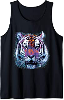Tiger Face Pop Art Graphic Tank Top