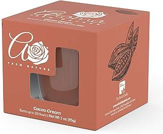 Aroma From Nature Cacao Cream Jar Candle, Pale Orange, Cacao Cream, 3 kilograms