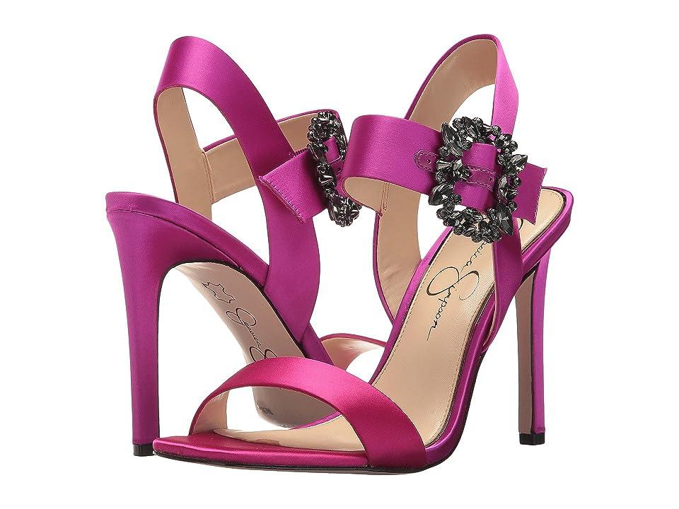 Jessica Simpson Bindy (Passion Pink Crystal Satin) Women