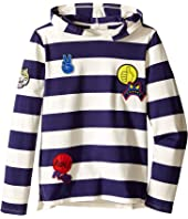 Stella McCartney Kids - Sid Striped Hooded Pullover with Badges (Toddler/Little Kids/Big Kids)