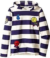 Stella McCartney Kids - Sid Striped Hooded Pullover with Badges (Toddler/Little Kids/Big Kids)