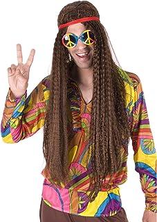 PARTY FIESTA Peluca Hippie Rizada Surtida