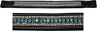 St. Charles BROWBAND Bling Crystal Horse English Bridle USA Leather Polo 80995