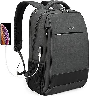 Tigernu Travel Laptop Backpack Business Anti Theft Slim Backpacks with USB Charging Port Water Resistant Bookbag for Women & Men Fits 15.6 Inch Laptop - Black