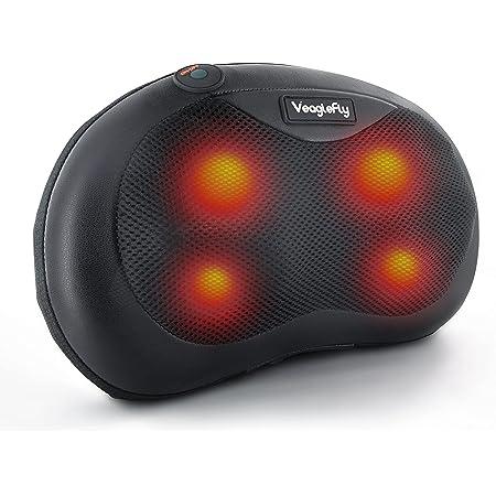 Veaglefly Coussin de Massage avec Chaleur, Masseur de Dos Électrique shiatsu avec Pétrissage 3D pour un Soulagement du Corps Complet à la Maison, Bureau