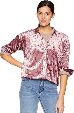 Long Sleeve Drop Shoulder Blouse