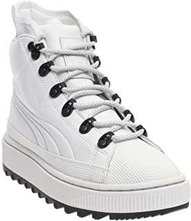 PUMA Boys The Ren (Big Kid) Casual Boots, White, 4.5