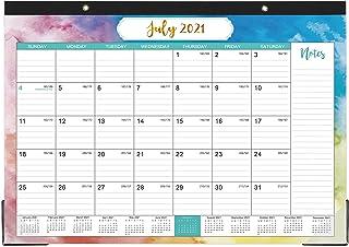 """2021-2022 Desk Calendar - Yearly Desk Calendar 2021-2022, Desk/Wall Monthly Calendar Pad, 17"""" x 12"""", July 2021 - December ..."""