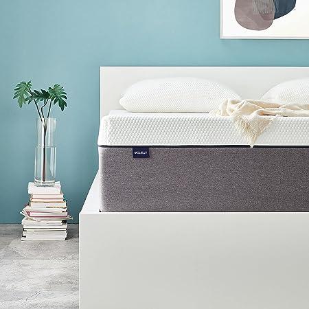 Molblly - Matelas 100 x 200 cm - 7 zones - En mousse froide - Ergonomique - Pour un sommeil réparateur - Hauteur : 15 cm - Dureté H3