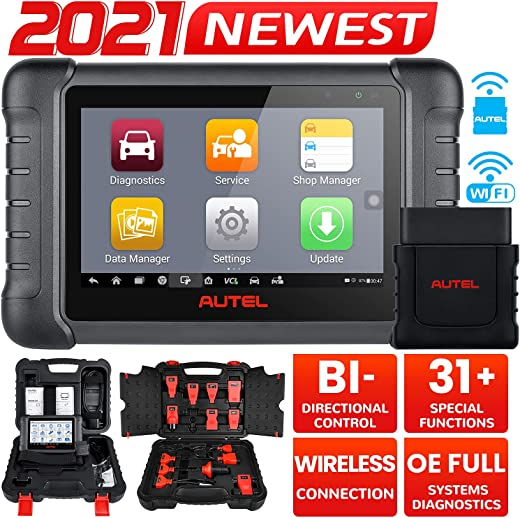 Autel MaxiPRO MP808BT Wireless Diagnostic Scanner, 2021 Newest Upgraded of MP808/ DS808, Bi-Directional Control, Same as MS906 OE All Systems Diagnostic, 30+ Services, Key Coding, Oil Reset, EPB, BMS