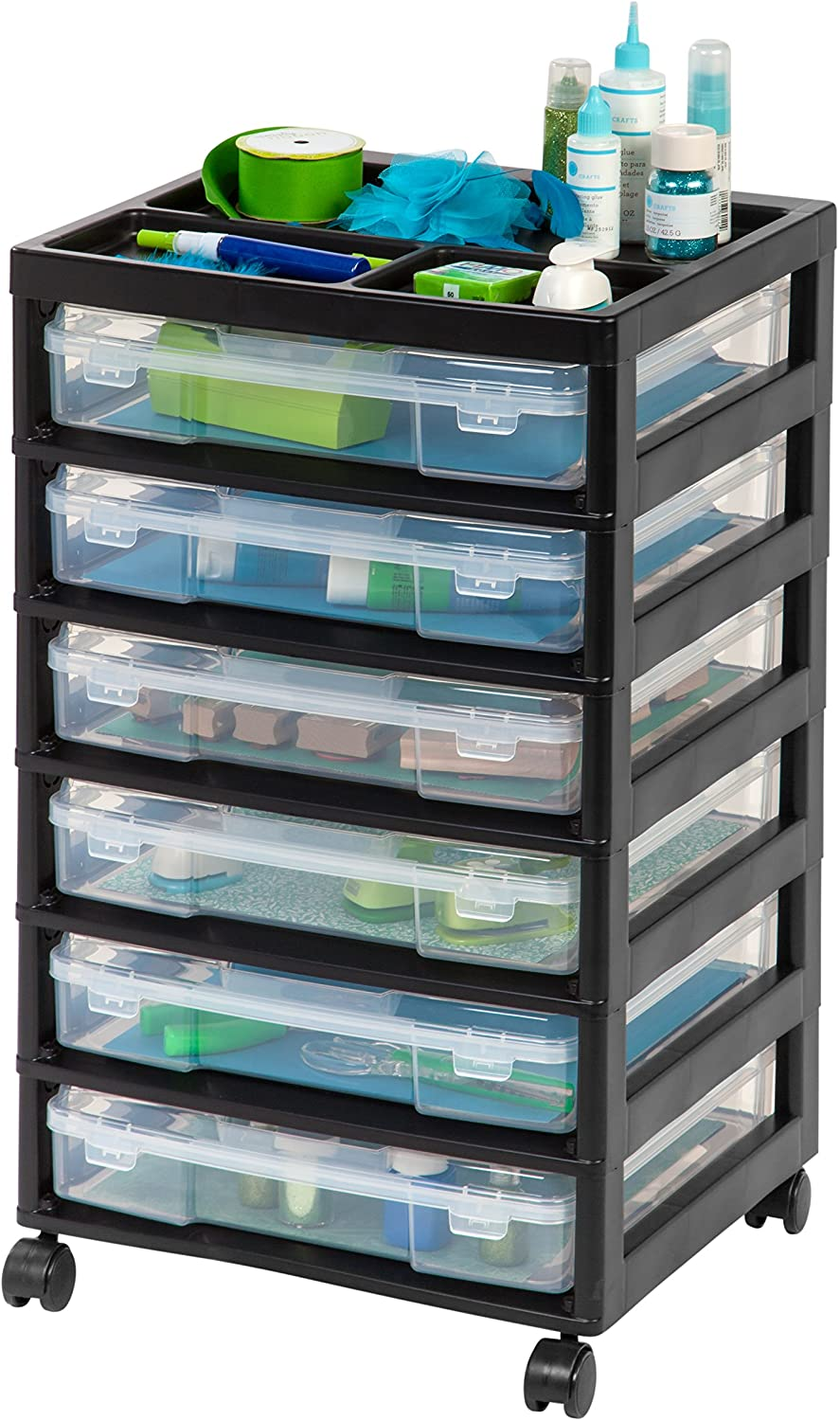 Selling IRIS USA 150816 6-Drawer Scrapbook with sold out Organizer Top Cart