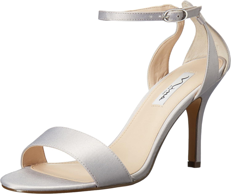 Nina Nina Woherren Venetia-Ls Dress Sandal, Silber Luster Satin, 7 M US  Kostenloser Versand!